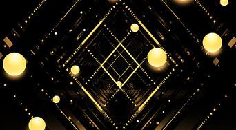 科技黑金几何背景图片