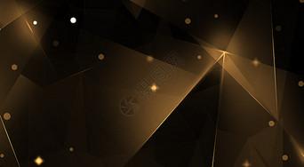 几何黑金科技背景图片