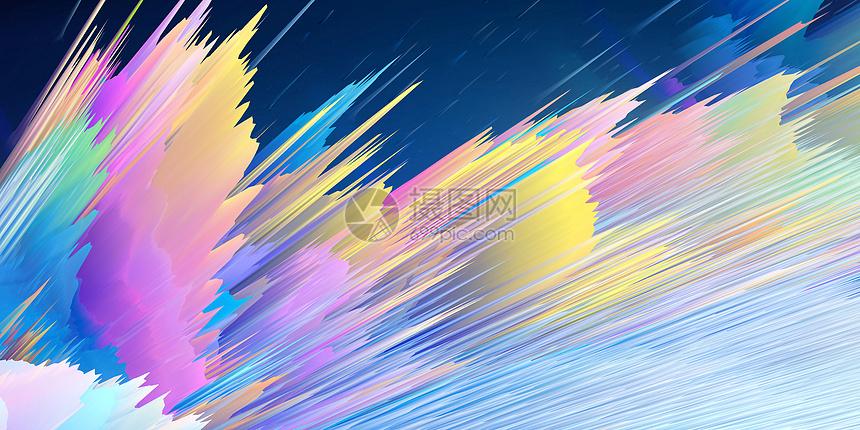 彩色炫酷科技背景图片