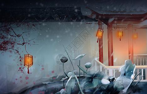 冬夜亭图片