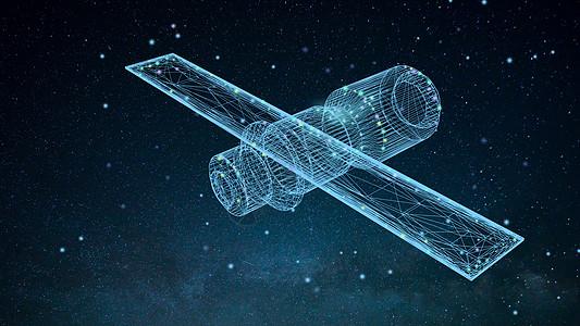 太空卫星背景图片