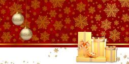 圣诞节红色礼物盒图片