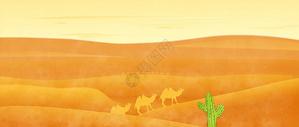 丝绸之路插画图片