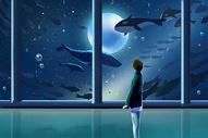 外太空的鱼群图片