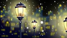 冬季城市夜景图片