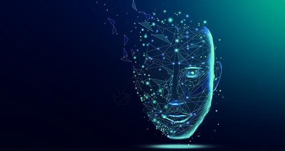 人脸科技背景图片