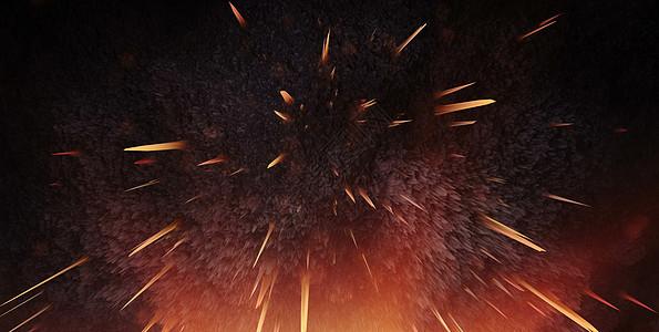 爆炸效果科技背景图片