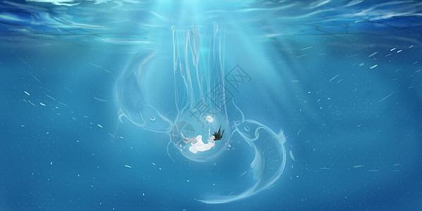 水中的女孩图片