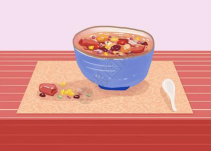 腊八粥手绘插画高清图片