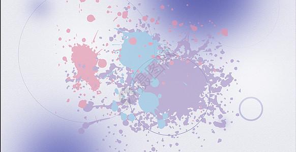彩色爆炸科技背景图片