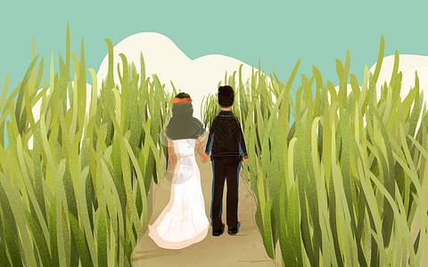牵手步入婚姻图片