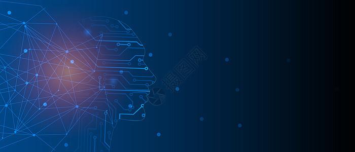 矢量人工智能科技背景图片
