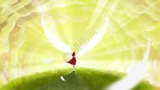 天使云中女孩图片