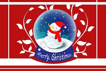 圣诞贺卡手绘矢量插画图片