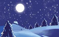 圣诞雪景背景图片