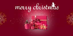 圣诞节礼物盒海报背景图片