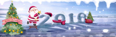 手绘圣诞节banner图片