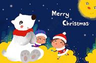 圣诞快乐手绘插画图片