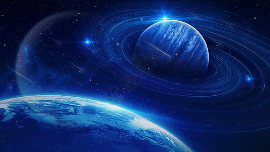 城市科技星空背景图片