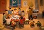年夜饭家人团聚图片