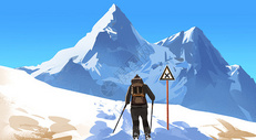 雪山上的探险者图片