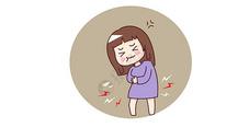 胃痛矢量插画图片