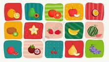 多种季节水果插画图片