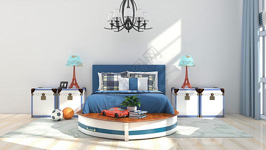北欧简约风卧室家居背景图片