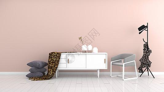 现代简约粉色系室内家居背景图片