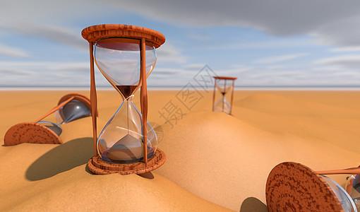 沙漠沙漏效果图片
