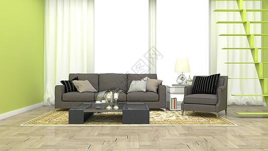 现代简约清新绿色环保室内家居背景图片