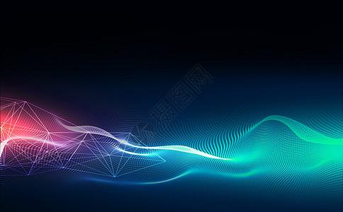 科技渐变粒子背景图片