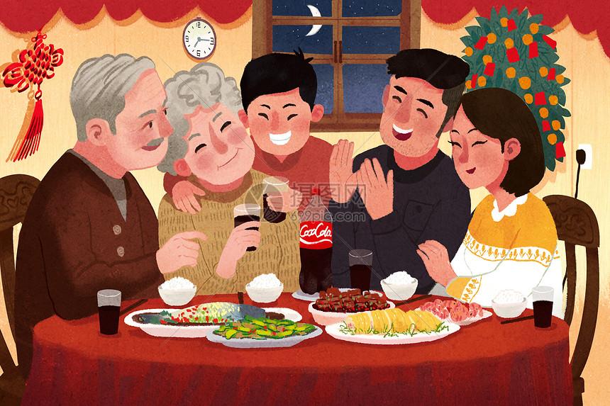 春节团圆饭图片