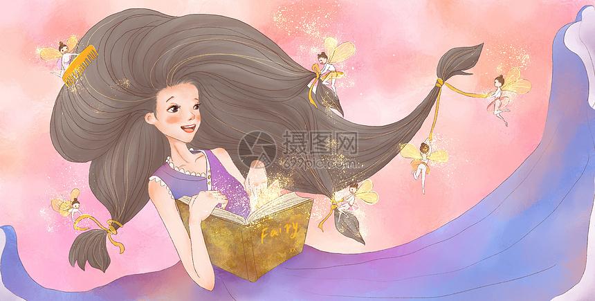 女孩与小精灵图片