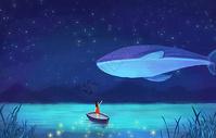 海豚唯美插画图片