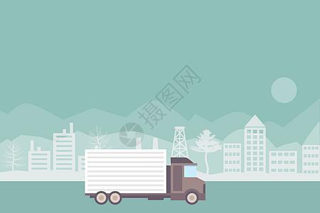 物流运输车图片