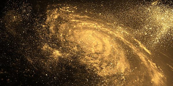 黑金星系背景图片