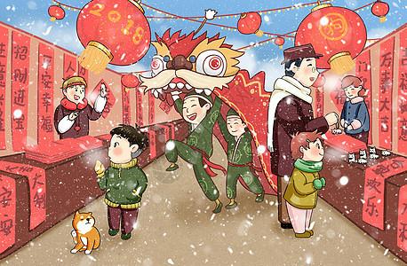 新春庙会图片