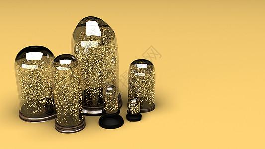 圣诞节玻璃盏装饰灯背景图片