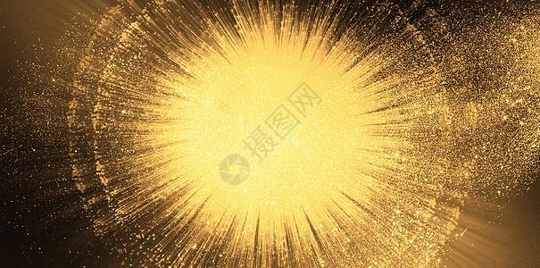 黑金喷裂抽象背景图片