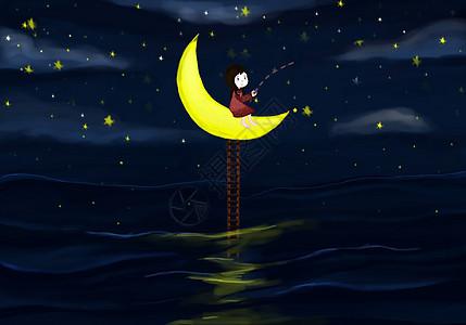 月亮上的女孩图片