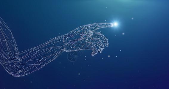 人工智能手背景图片
