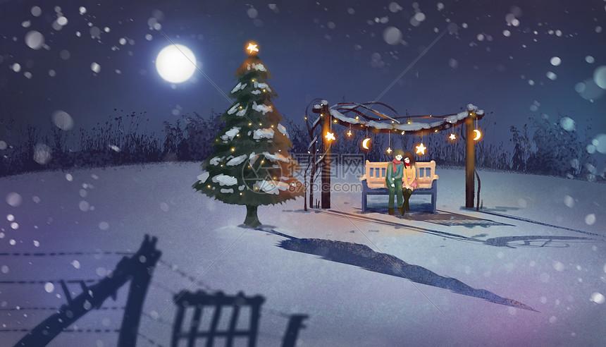 浪漫圣诞夜图片