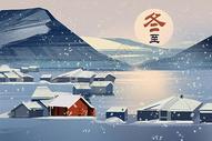 冬至雪景图片