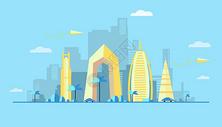 夏日城市建筑图片