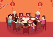春节除夕家人团圆插图图片