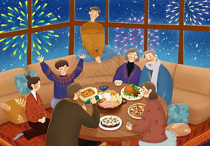 团圆年夜饭图片