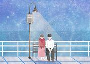 冬季恋爱约会图片