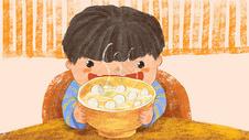 吃汤圆插画图片