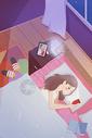 女生失眠图片